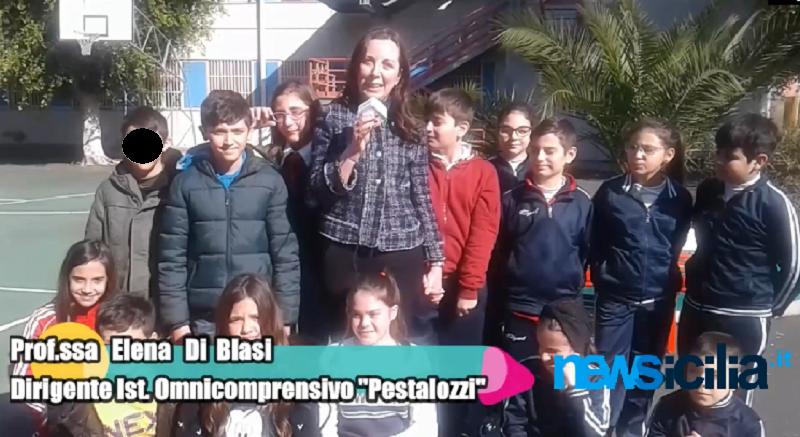 """La """"Pestalozzi"""" incontra Sant'Agata: nel Giorno della Memoria il tributo degli alunni al cereo della Santuzza"""