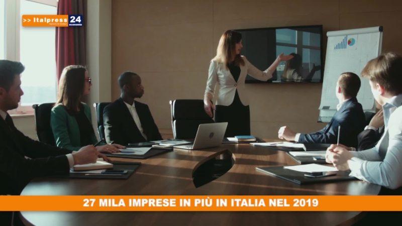 27 mila imprese in piu' in Italia nel 2019