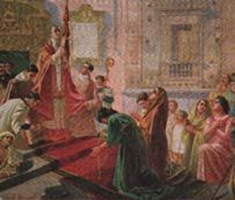 """Catania, """"peregrinatio"""" del velo di S. Agata: inizia il giro tra i fedeli a S. Maria di Ognina"""