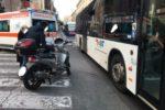 Incidente al Borgo, auto e moto si scontrano in piazza Cavour: traffico paralizzato