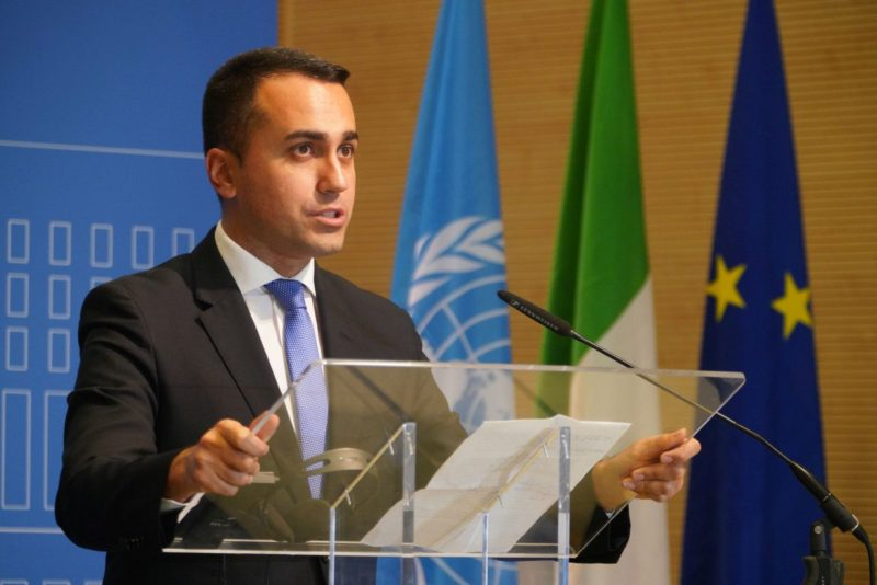"""Libia, Di Maio """"Missione navale europea per l'embargo delle armi"""""""