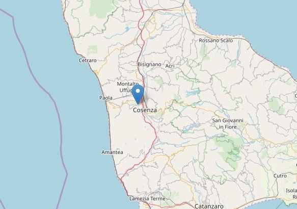 Scossa di terremoto magnitudo 4.4 nel Cosentino
