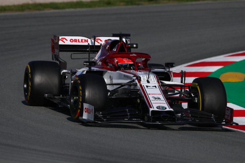 Test F1, miglior tempo per Kubica con l'Alfa Romeo a Barcellona