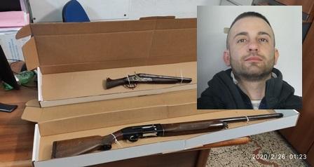 Blitz a San Cristoforo: nascondeva armi in una stalla di proprietà, in manette 34enne