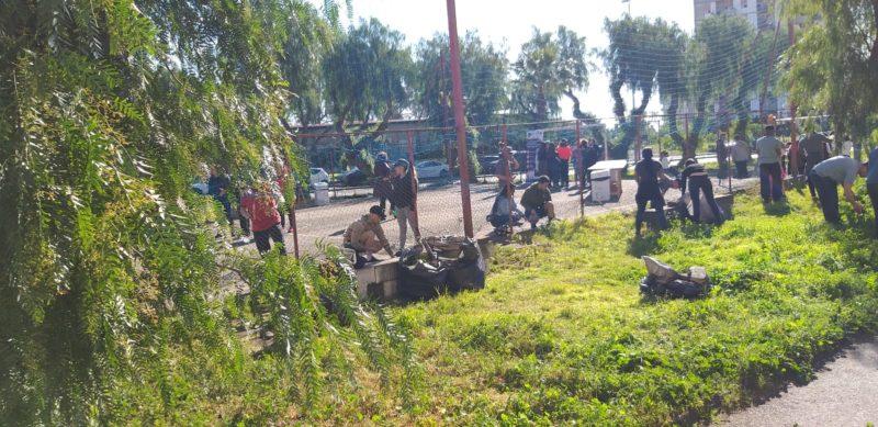 Catania, degrado e incuria in via Capo Passero: militari e studenti impegnati nella riqualificazione di un'area ludica – FOTO