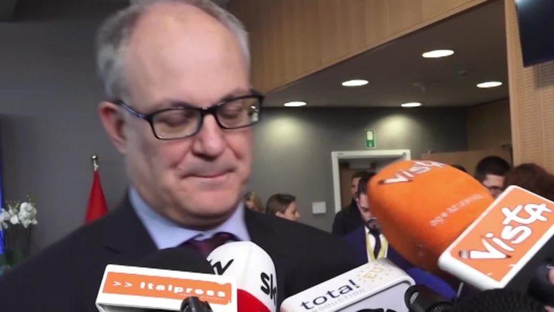 """Ue, Gualtieri """"Priorita' Italia flessibilita' e investimenti"""""""