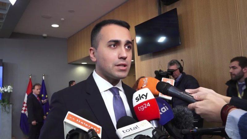 """Di Maio """"Missione Ue per l'embargo delle armi in Libia"""""""