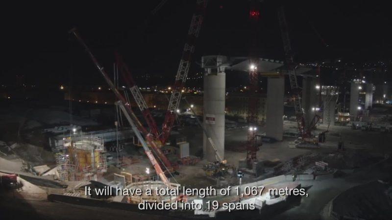 Ponte di Genova, conclusa l'ultima delle 18 pile che lo sosterranno