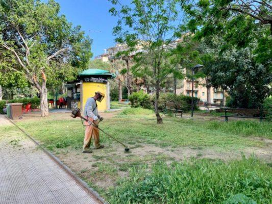 Fase 2 a Catania, riaprono i parchi comunali: incessanti lavori di sanificazione in corso