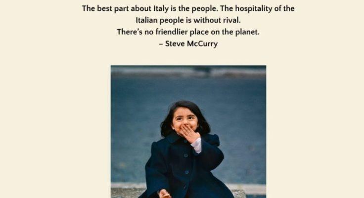 """""""La parte migliore dell'Italia è la gente"""", Steve McCurry omaggia il Bel Paese e la Sicilia"""