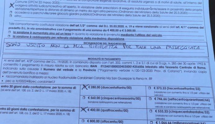 """Catania, a piazza Duomo in bicicletta: """"Stavo facendo una passeggiata"""", scatta la multa"""