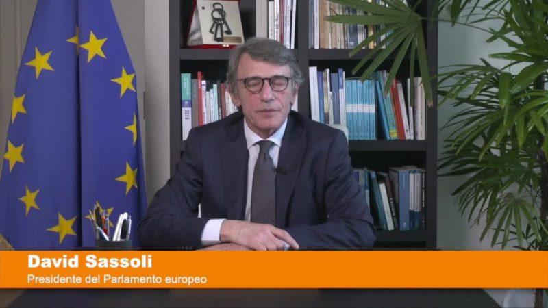 """Coronavirus, Sassoli """"I Governi europei siano all'altezza della sfida"""""""