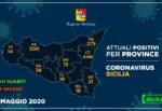 Regione Siciliana, quadro riepilogativo provincia per provincia: tre aree con zero ricoverati