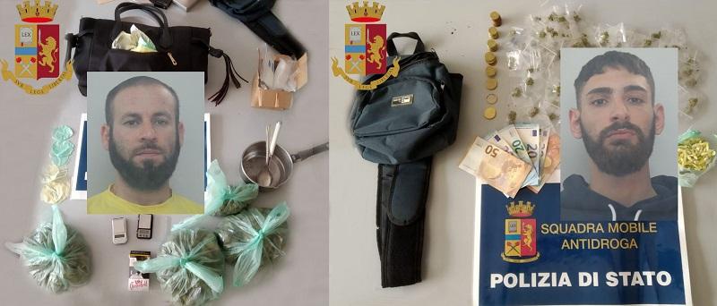 Operazione antidroga, marijuana e cocaina in dosi pronta allo spaccio: due arresti – VIDEO