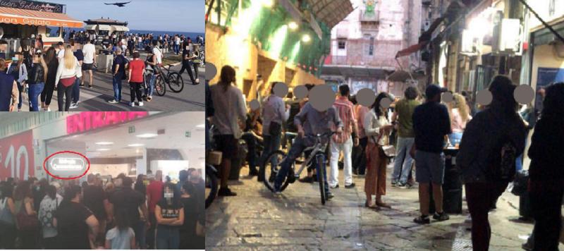 Da Catania a Palermo, il grande fraintendimento della Fase 2: assembramenti, controlli e governatori arrabbiati