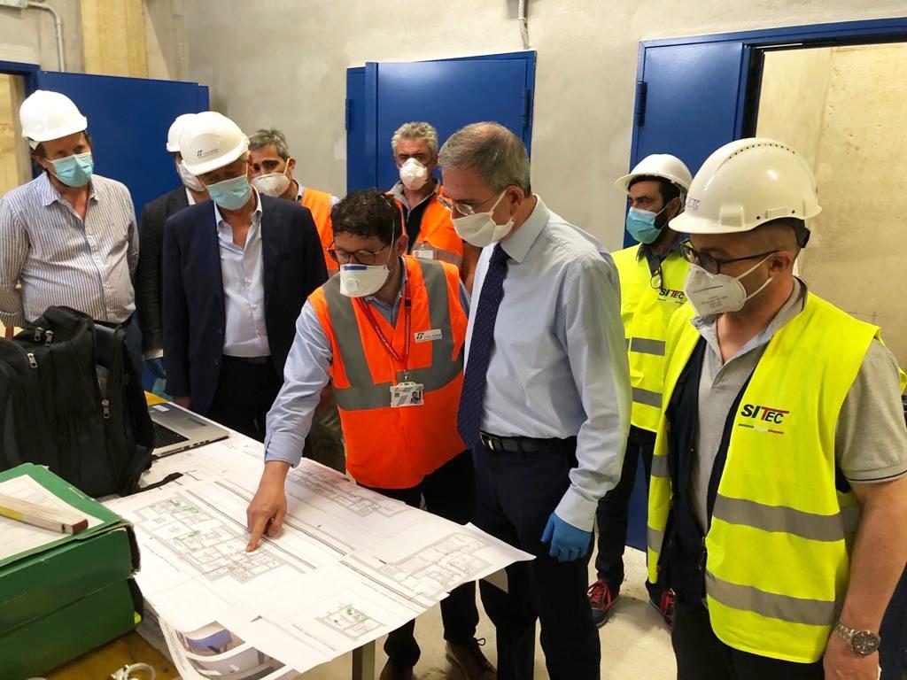 """Riprende il progetto per la stazione ferroviaria di Capaci, Falcone in visita al cantiere: """"Significativo sviluppo dell'infrastruttura"""""""