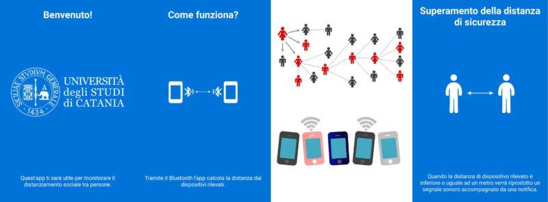 """""""Distantia"""", l'app dell'Università di Catania per il distanziamento"""