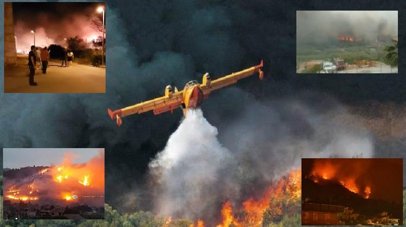 L'inferno in Sicilia, una notte di incendi fuori controllo. Cittadini evacuati dalle case: canadair in azione – FOTO