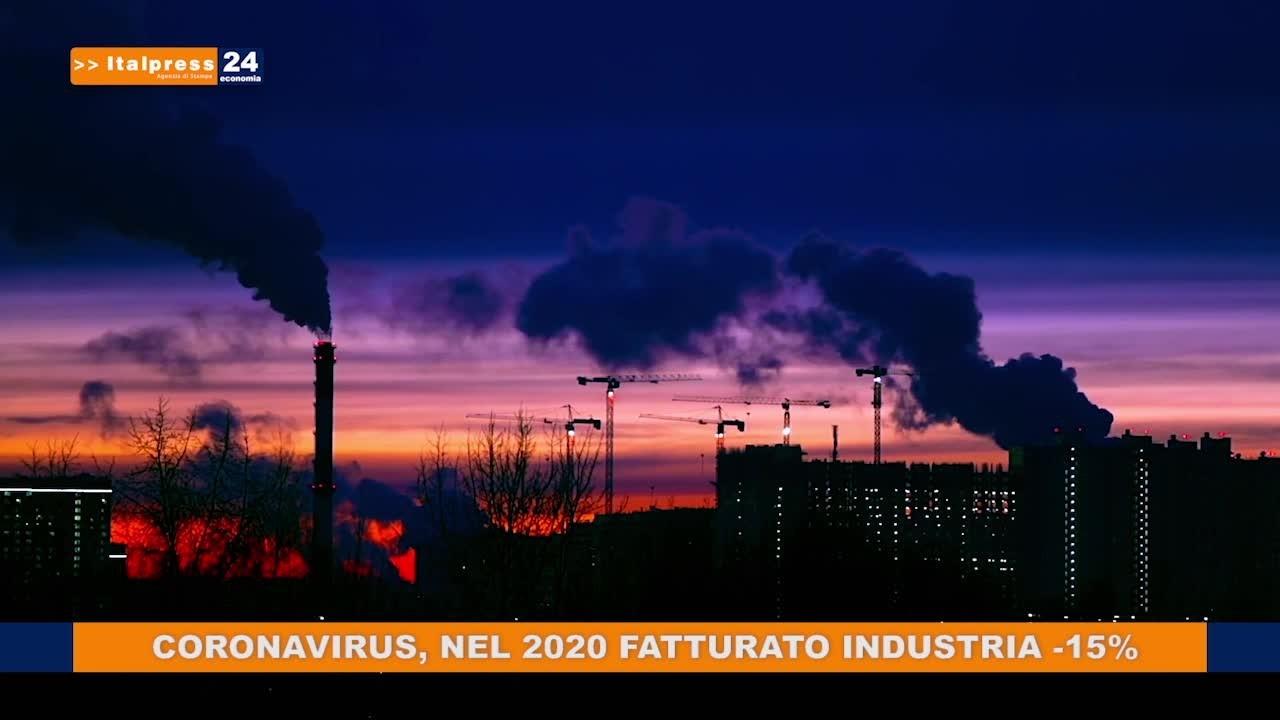 Coronavirus, nel 2020 fatturato industria -15%