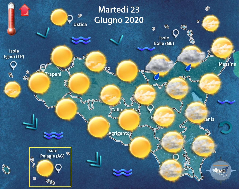 Meteo, temperature in lieve aumento su tutta l'Isola con punte fino a 29 gradi