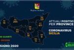 Regione Siciliana, i DATI dell'emergenza: l'aggiornamento provincia per provincia, sotto i 10 Siracusa