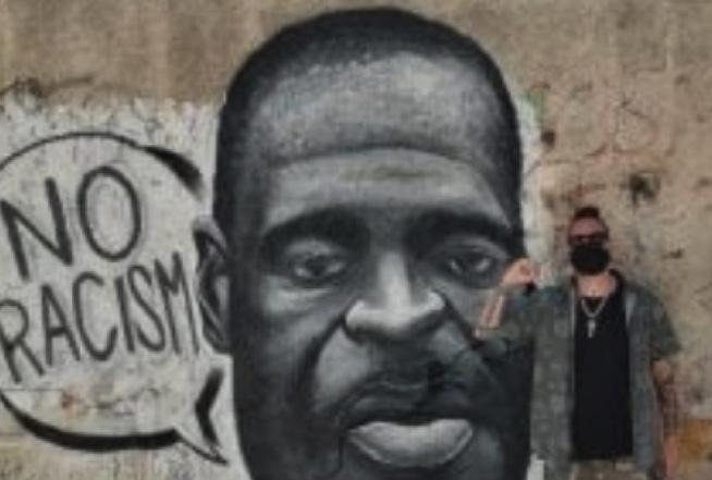 """Il volto di George Floyd su un murale a Palermo: parte la protesta """"No racism"""""""