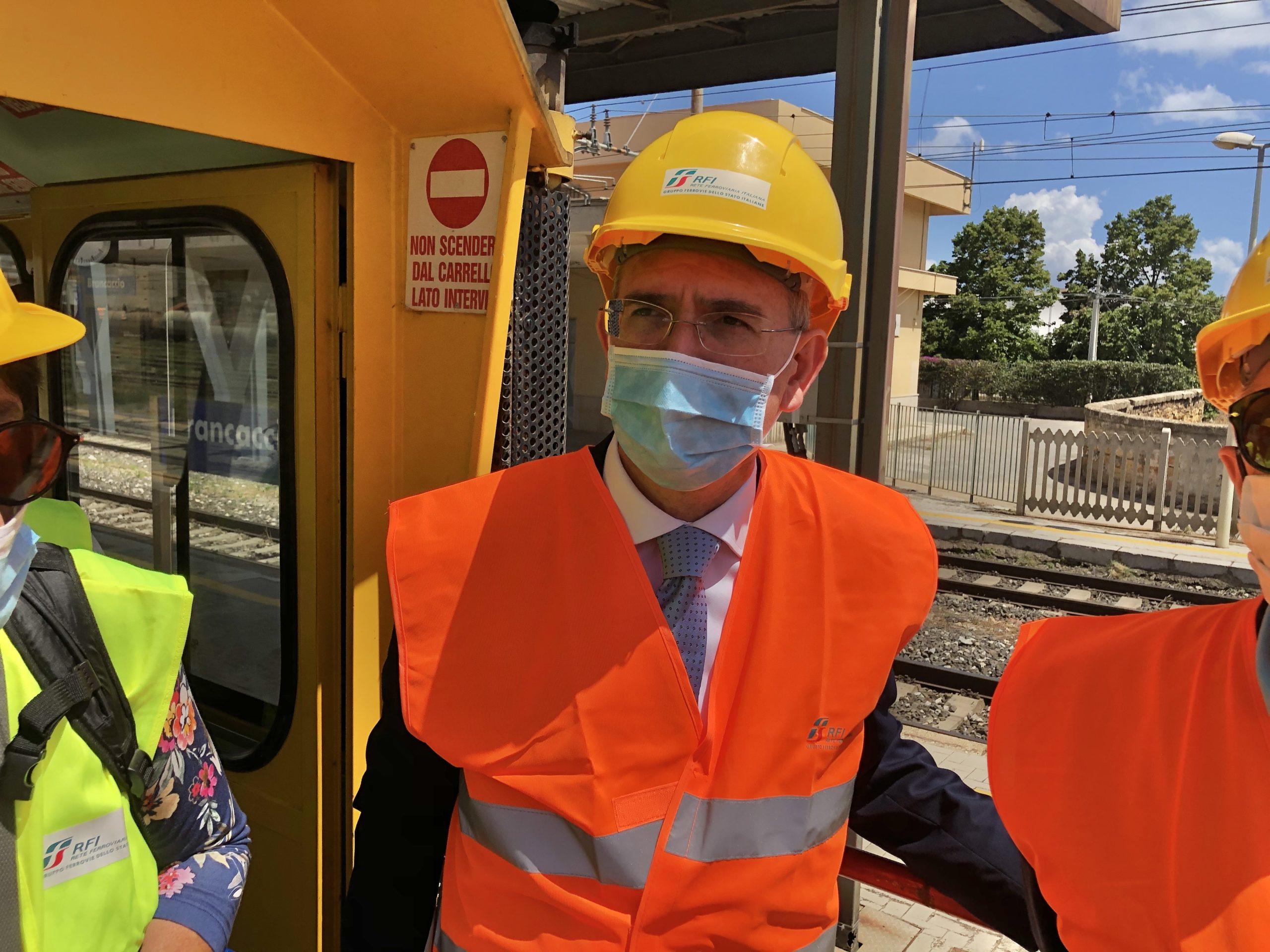 """Catania, sopralluogo dell'assessore Falcone alla Metro: """"Entro settembre la viabilità tornerà alla normalità"""""""