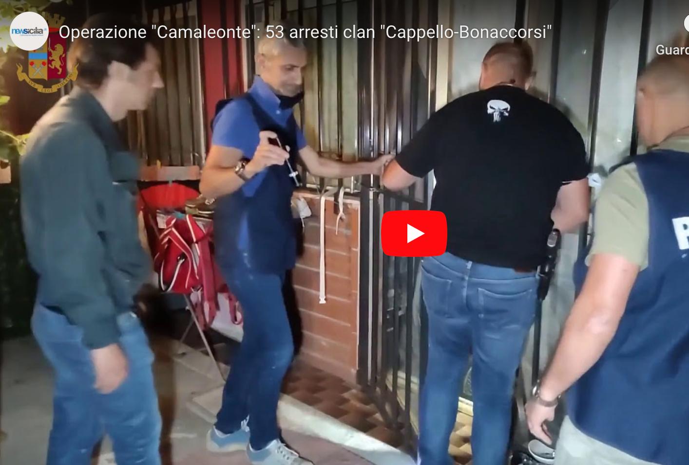 """Irruzione in piena notte nelle ville di 53 affiliati al clan """"Cappello-Bonaccorsi"""": dai reati contestati a chi gestiva gli affari – VIDEO"""