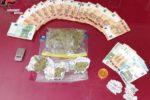 Spaccio di droga per le vie del centro, controlli dei carabinieri: un arresto e tre denunce