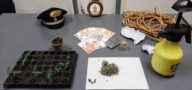 Droga nascosta ovunque, dal bagno alla cucina: in manette un 25enne del Catanese, denunciato 46enne