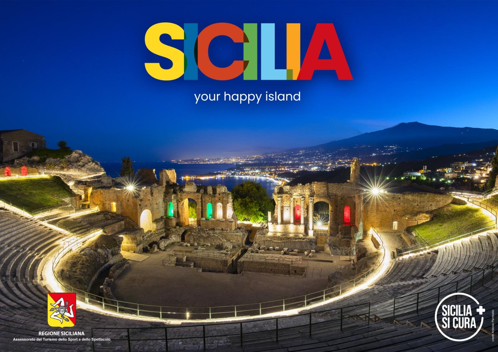 """""""Sicilia: your happy Island"""", la Regione Siciliana presenta logo e spot per rilanciare il turismo – FOTO e VIDEO"""