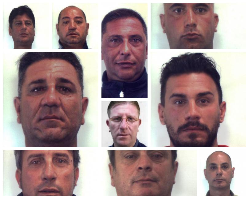 """Operazione """"Teneo"""", ecco i NOMI e le FOTO dei 10 arrestati"""