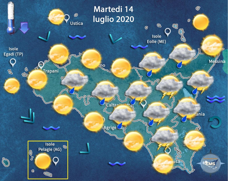 Meteo Sicilia, estate messa da parte: temperature in lieve calo, probabili piogge su tutta l'Isola