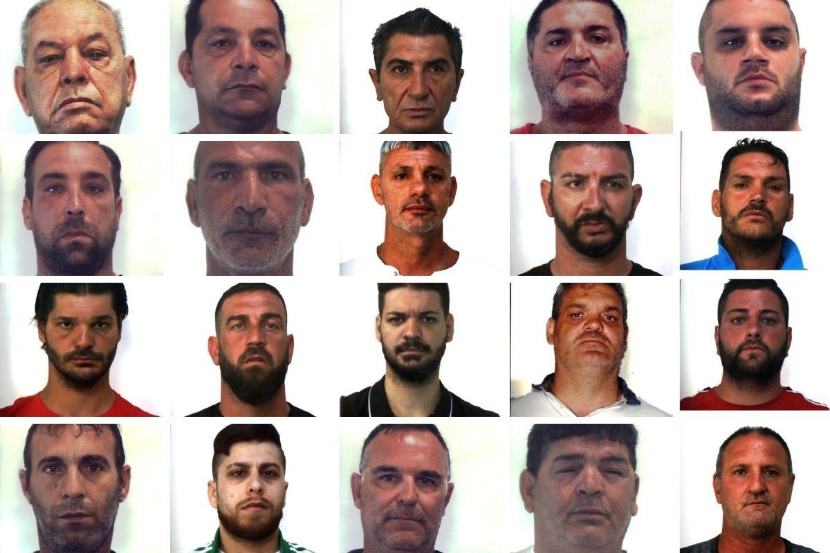 """Operazione """"Stele"""", dalle estorsioni al traffico di droga: NOMI e FOTO dei 24 soggetti coinvolti"""