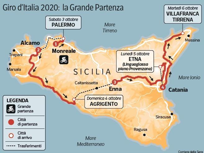 """Giro d'Italia, si parte dalla Sicilia. Il sindaco di Monreale: """"Questa volta la città vestirà la maglia rosa"""""""