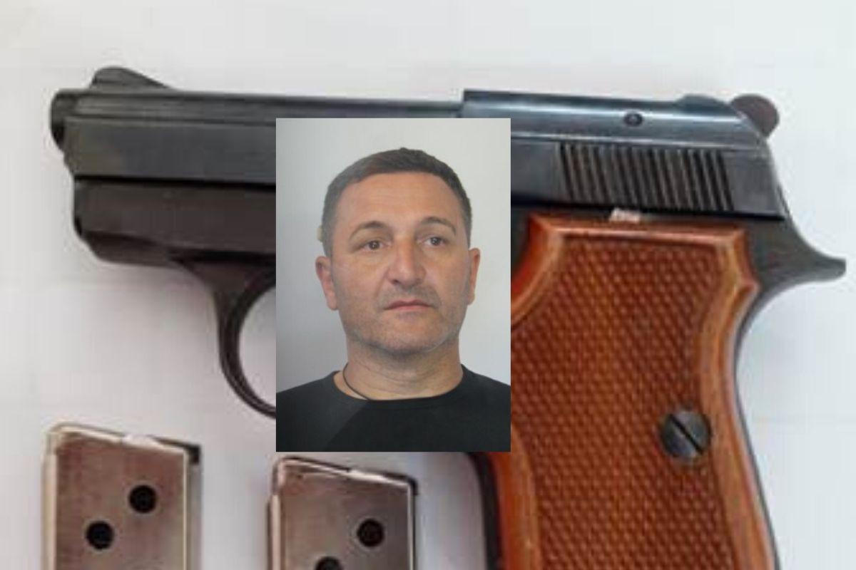Nascondeva pistola nella cassaforte dietro il letto: 51enne catanese in carcere