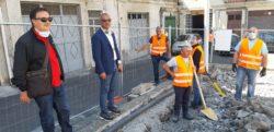 Bronte, cantieri a lavoro per riqualificare piazza Alcide De Gasperi e via Saitta: soddisfazione del sindaco Calanna