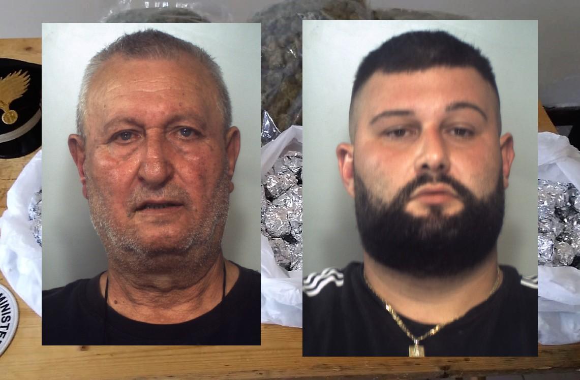 I bambini in piscina e oltre 2 chili di droga nello stesso cortile: arrestati padre e figlio catanesi