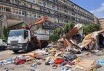 Catania, sgombero delle tendopoli in piazza della Repubblica – TESTIMONIANZE