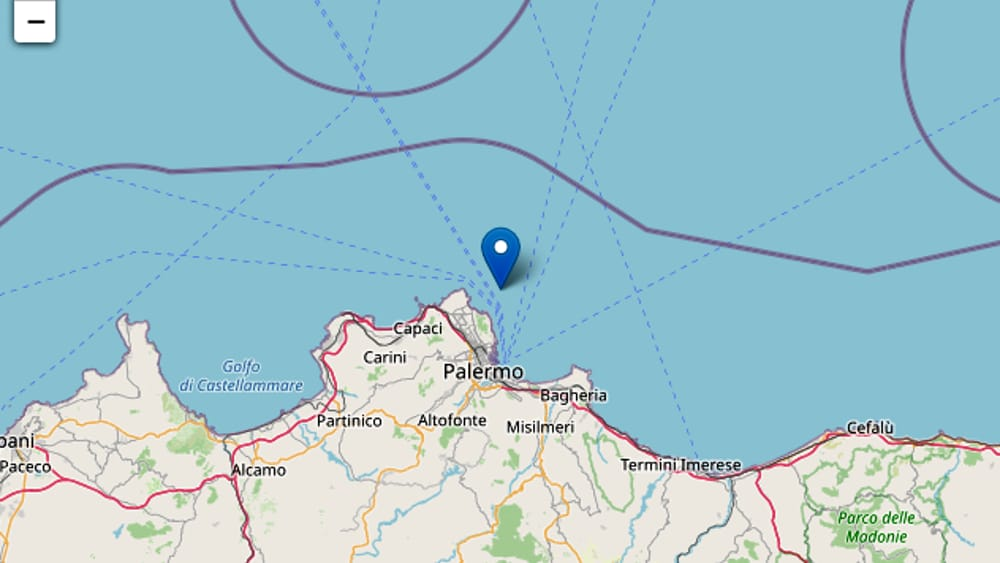 Trema la terra in Sicilia: terremoto di magnitudo 2,7 avvertito dalla popolazione