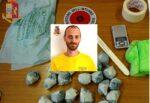 Operazione antidroga nel centro storico, marijuana in dosi occultata in uno zainetto: arrestato pusher