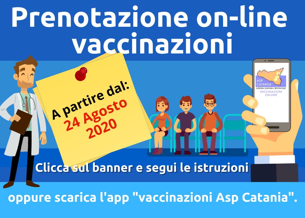 ASP di Catania, importanti novità per le vaccinazioni: dal 24 agosto via alla prenotazione online