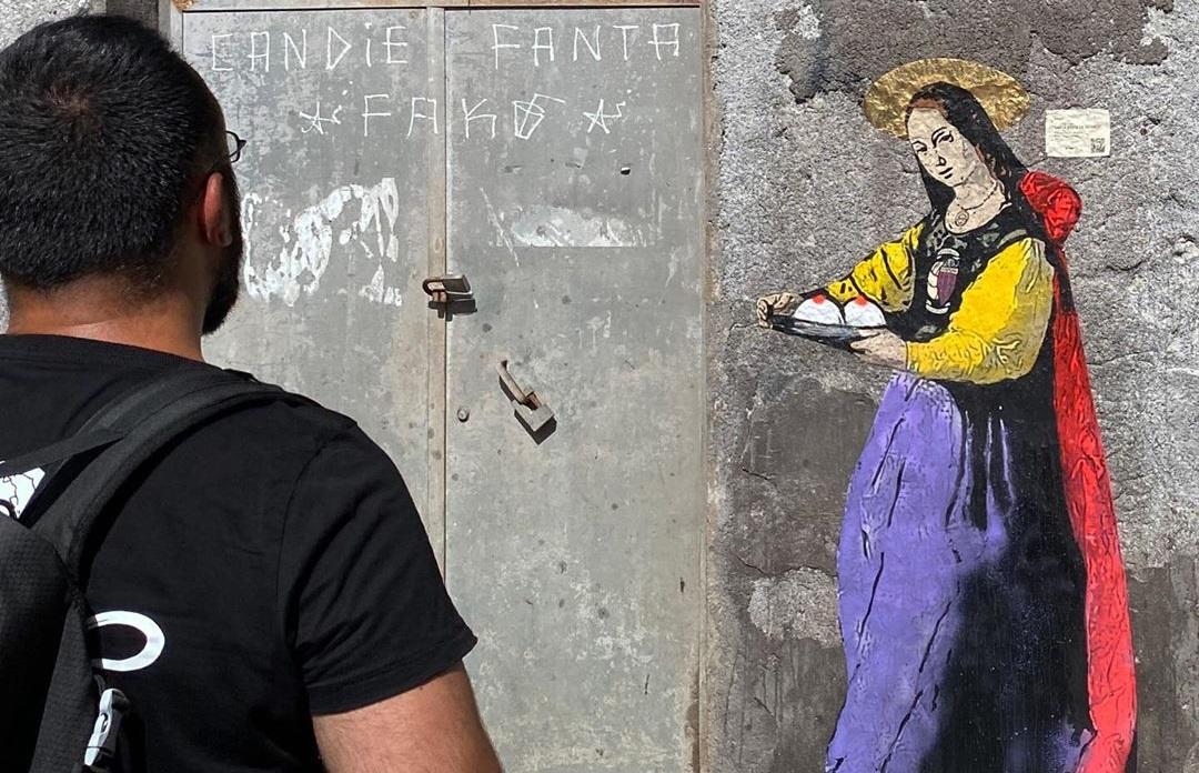 Murale alla Pescheria omaggia Sant'Agata: dono inaspettato e gratuito per la città di Catania