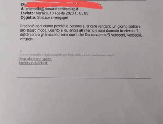 """Pesanti intimidazioni al sindaco di Canicattì: """"Andrà all'inferno e sarà dannato in eterno. Si vergogni"""""""
