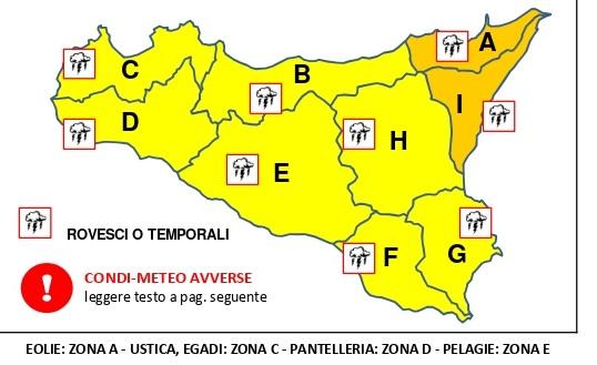 Maltempo in Sicilia, scatta l'allerta arancione: a Catania il Comune invita i cittadini alla massima prudenza