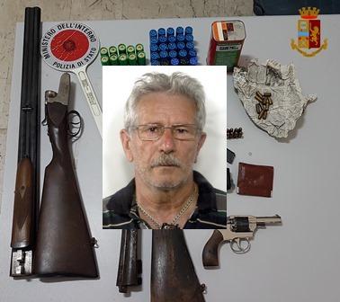 Adrano, Giuseppe Diolosa deteneva in una casa di Adrano armi clandestine e un mini arsenale