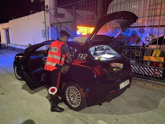 Salina, movida e ubriachi al volante nel mirino dei carabinieri: denunce, multe e provvedimenti
