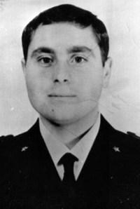 Il poliziotto Domenico Russo, agente della scorta del generale Carlo Alberto Dalla Chiesa, ferito mortalmente nella strage di via Carini il 3 settembre 1982