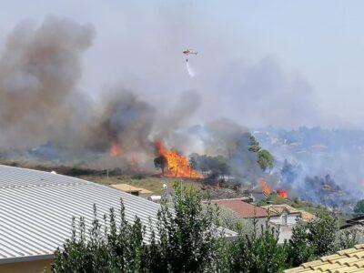 Incendio Noto 17 agosto 2020
