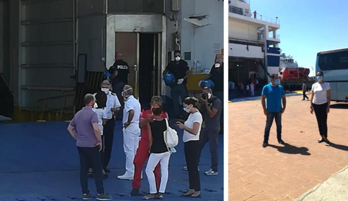 Nave-quarantena Aurelia, sbarco e trasferimento per i 163 migranti negativi